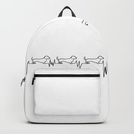 Dachshunds for Life - Black/White Backpack