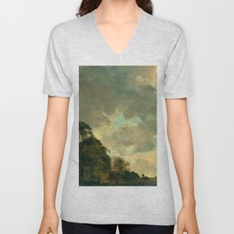 "John Constable ""A Cloud Study"" 3. Unisex V-Neck"