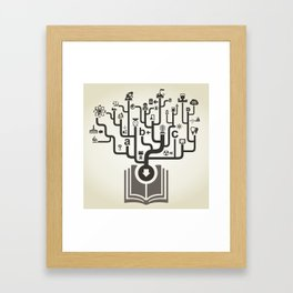 Industry the book Framed Art Print