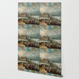 "Adam van Breen ""Skating on the Frozen Amstel River, 1611"" Wallpaper"