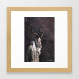 Take the Kudu by the Horns Framed Art Print