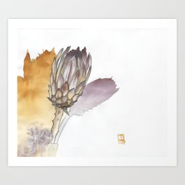 Protea in a Vase Art Print