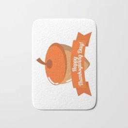 Happy Thanksgiving Day Chestnut Design Bath Mat