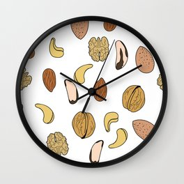 nuts Wall Clock