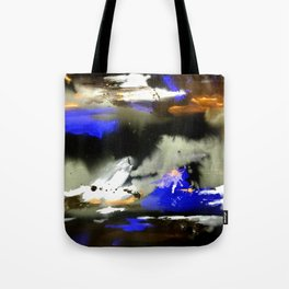 Watercolor Abstract Horizons at Night  Tote Bag
