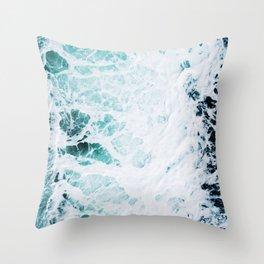 Water, Sea, Ocean, Wave, Blue, Nature, Modern art, Art, Minimal, Wall art Art Print Throw Pillow