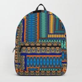 Soul Portal Geometric Print Backpack
