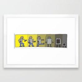 Evolution or Noitulove? Framed Art Print