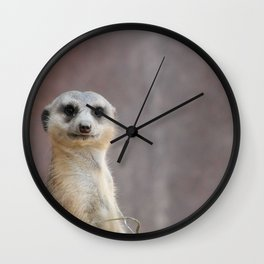 I Call Him Uncle Bob And He Was Ready For His Closeup Wall Clock
