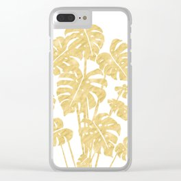 Delicate Monstera Golden #society6 Clear iPhone Case