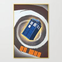 dr who Canvas Prints featuring Dr Who by pHoran