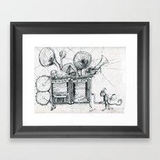 Noisy Framed Art Print
