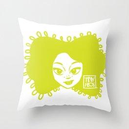 Simple + Cute (Green) Throw Pillow