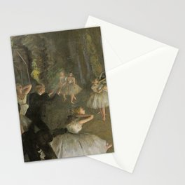 Edgar Degas The Rehearsal Onstage Stationery Cards