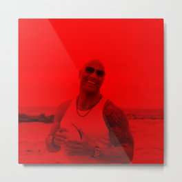 Dwayne Johnson - Celebrity (Photographic Art) Metal Print