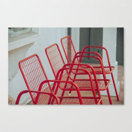 Red Chairs Canvas Print