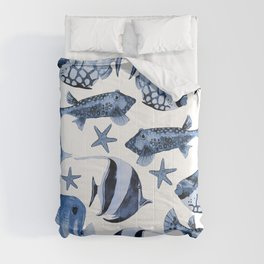 Fish Underwater Watercolor Pattern Comforters