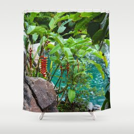 Dreamy Garden Views Shower Curtain
