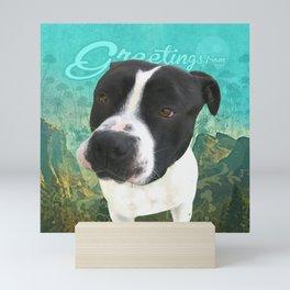 BOB (shelter pup) Mini Art Print