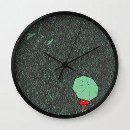 rain falls Wall Clock