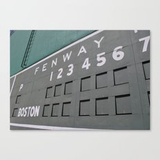 Fenwall -- Boston Fenway Park Wall, Green Monster, Red Sox Canvas Print