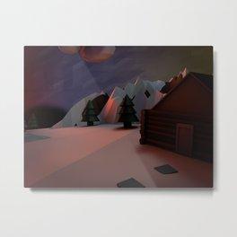 Little Planet House Metal Print