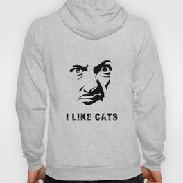 I Like Cats Face Hoody