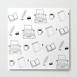 Write-or-Die (Pattern) Metal Print