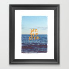 Sea You Soon Framed Art Print