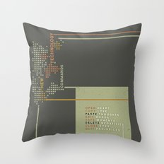 New Technology Commands Throw Pillow