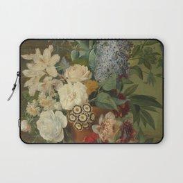 Albertus Jonas Brandt - Flowers in a terra cotta vase Laptop Sleeve