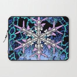 GRAPHIC WINTER SNOWFLAKE PEN & INK DRAWING Laptop Sleeve