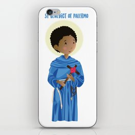St.Benedict of Palermo iPhone Skin