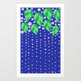 dots leaves Art Print