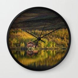 Icelandic Autumn Wall Clock