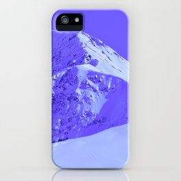 Winter Mountains in Periwinkle - Alaska iPhone Case