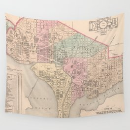 Vintage Map of Washington DC (1857) Wall Tapestry