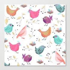Bird Nests Canvas Print