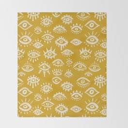 Mystic Eyes – Marigold Palette Throw Blanket