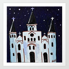 St. Louis Cathedral at Night Art Print