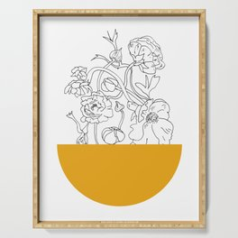 VESSEL - Floral Ink in Mustard - Cooper and Colleen Serving Tray