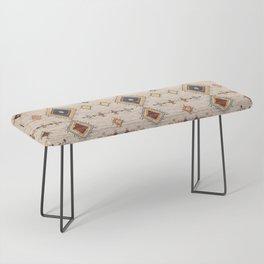 N250 - Oriental Heritage Berber Traditional Moroccan Style Bench