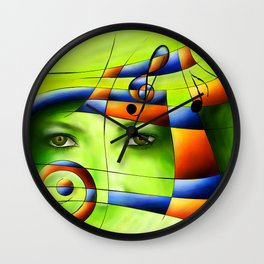 Hispanissia - painted music Wall Clock