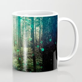 Magical Green Forest - Nature Photography Coffee Mug