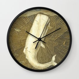 White Whale Wall Clock