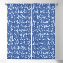 Handwritten Cursive Script Seamless Pattern Blackout Curtain
