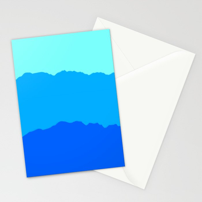 Minimal Mountain Range Outdoor Abstract Stationery Cards
