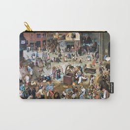 12,000pixel-500dpi - Pieter Bruegel - The Fight Between Carnival And Fasting - Digital Remastered Carry-All Pouch