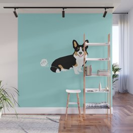 Corgi funny fart dog pure breed gifts dog lovers tricolored corgis Wall Mural