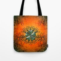decorative Tote Bags featuring Decorative design by nicky2342